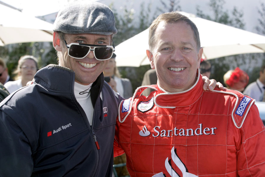 Eight-time Le Mans winner Tom Kristensen and Martin Brundle