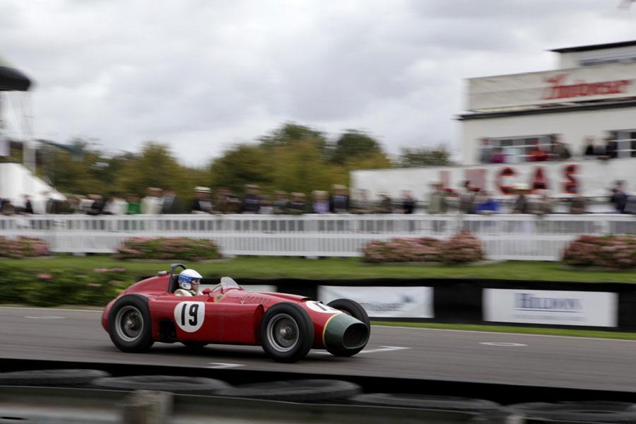 Jochen Mass on track in a Lancia-Ferrari D50