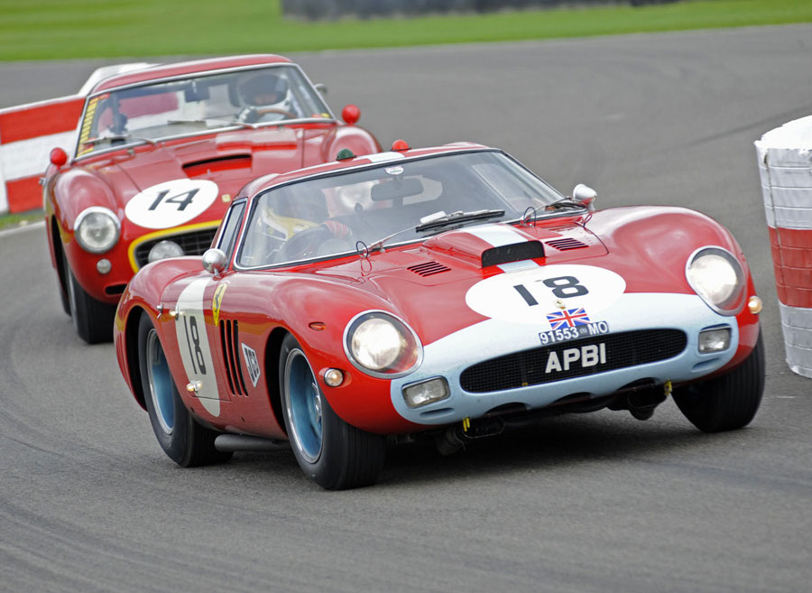 Jean Marc Gounon and Peter Hardman drive a Ferrari 250 GTO to victory