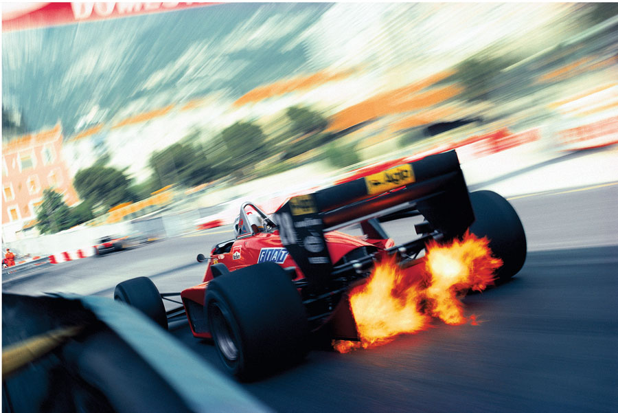 Stefan Johansson Had A Little Exhaust Fire At Monaco