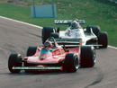Gilles Villeneuve leads Alan Jones at the 1979 Canadian Grand Prix