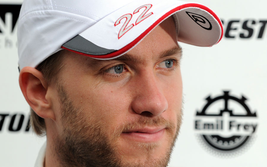 Nick Heidfeld at a Sauber photoshoot