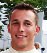 A happy Christian Klien on his return to F1