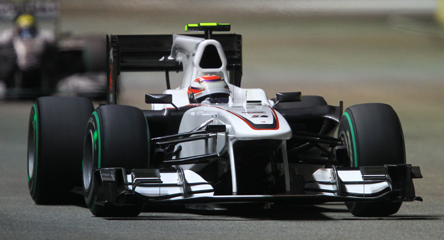 Kamui Kobayashi during the third practice session