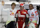 Sebastian Vettel, pole-sitter Fernando Alonso and Lewis Hamilton take the plaudits after Qualifying in Singapore