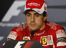 Fernando Alonso in the post-qualifying press conference