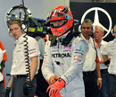 Michael Schumacher prepares for action