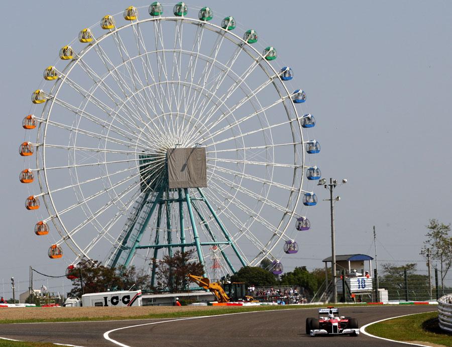 Jarno Trulli on track in the Toyota
