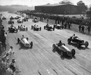 The start of the 1948 British Grand Prix