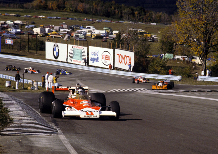 James Hunt on his way to victory at Watkins Glen