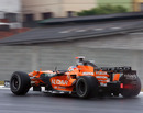 Adrian Sutil ventures out in the wet