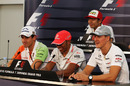 Drivers attend Thursday's press conference at Suzuka