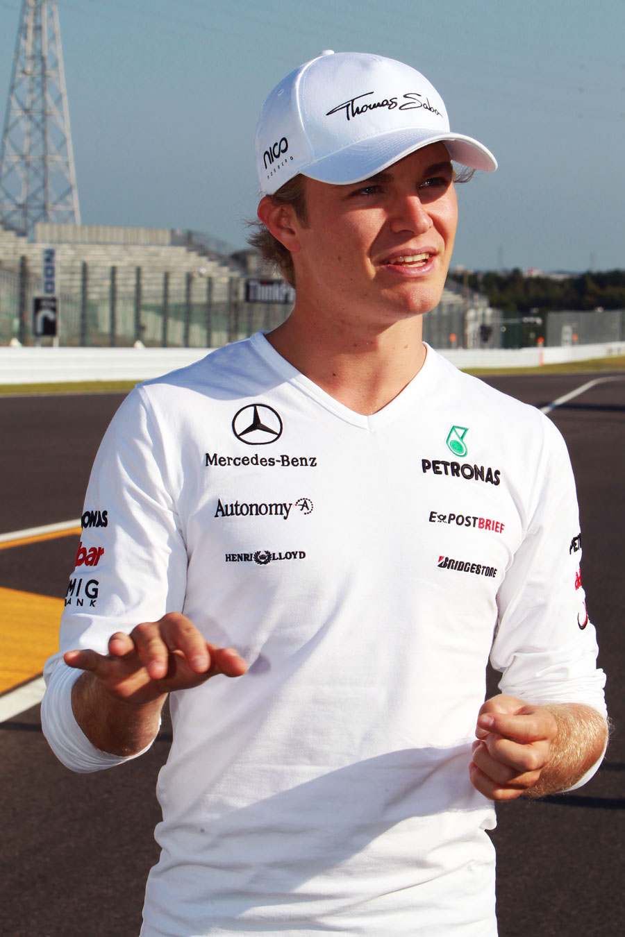 Nico Rosberg in the Suzuka paddock on Thursday