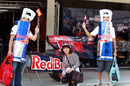 Fans outside the Toro Rosso garage