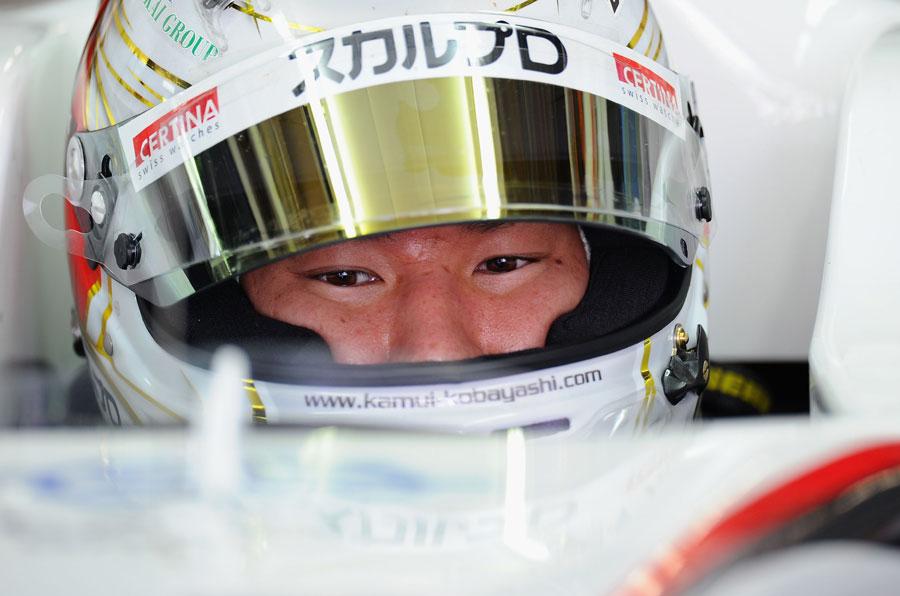 Kamui Kobayashi waits to go out