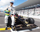 Bruno Senna  with the Lotus 97T raced by his uncle Ayrton Senna