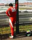 A dejected Felipe Massa after his first-lap exit