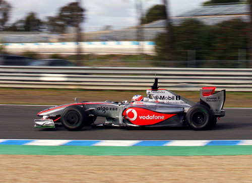 Gary Paffett test drives for McLaren at the young driver test