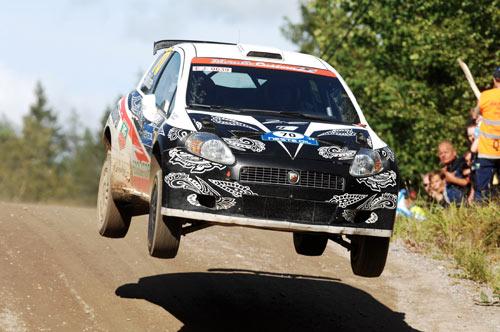 Kimi Raikkonen took Rally Finland's jumps at full speed on his debut