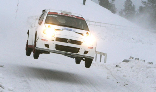 Kimi Raikkonen made his rallying debut at a non-WRC event in Finland