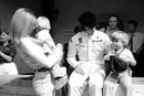 Jackie Stewart with his family after winning his first world championship