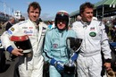 Sir Jackie Stewart with sons Paul and Mark
