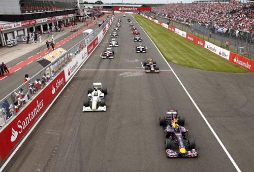 The start of the British Grand Prix