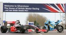 A sign of the times at Silverstone  - the home of two grand prix