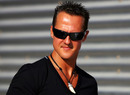 Michael Schumacher in the Valencia paddock