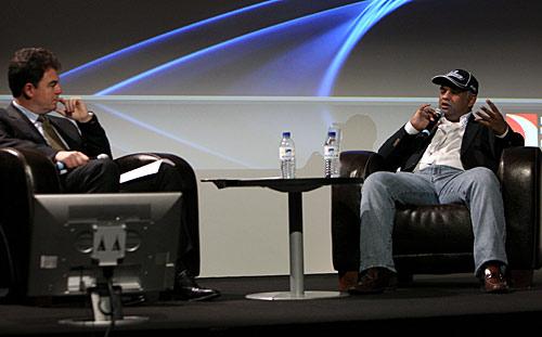 James Allen interviewed Tony Fernandes at the motorsport business forum