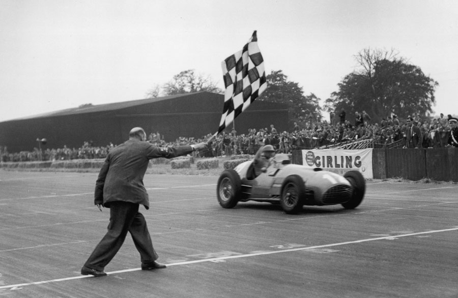 Froilan Gonzalez wins at Silverstone in his Ferrari 375