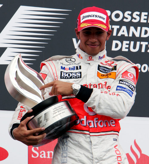Lewis Hamilton won in Germany