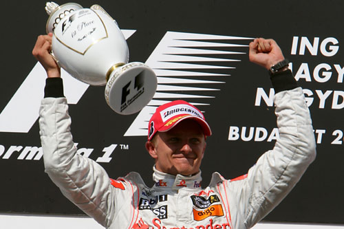 Heikki Kovalainen took his maiden victory in Hungary