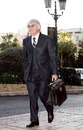 Bernie Ecclestone arrived for the FIA meeting in Monaco