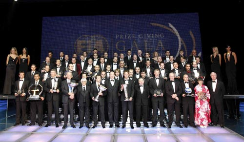 The FIA Trophy Winners at the 2009 FIA Prize Giving Gala in Monaco