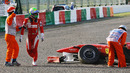 Felipe Massa heads into retirement after hitting Tony Liuzzi's Force India