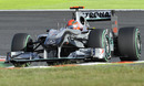 Michael Schumacher on his way to sixth place