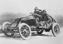 The car of Marcel Renault at full speed during the Paris-Madrid race - within hours both he and his mechanic were dead