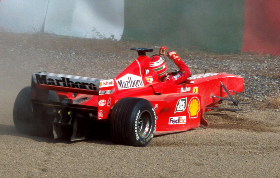 Eddie Irvine's title hopes take a massive hit as he spins off during qualifying