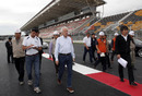 Charlie Whiting inspects the new circuit