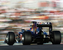 Mark Webber on track in the Red Bull