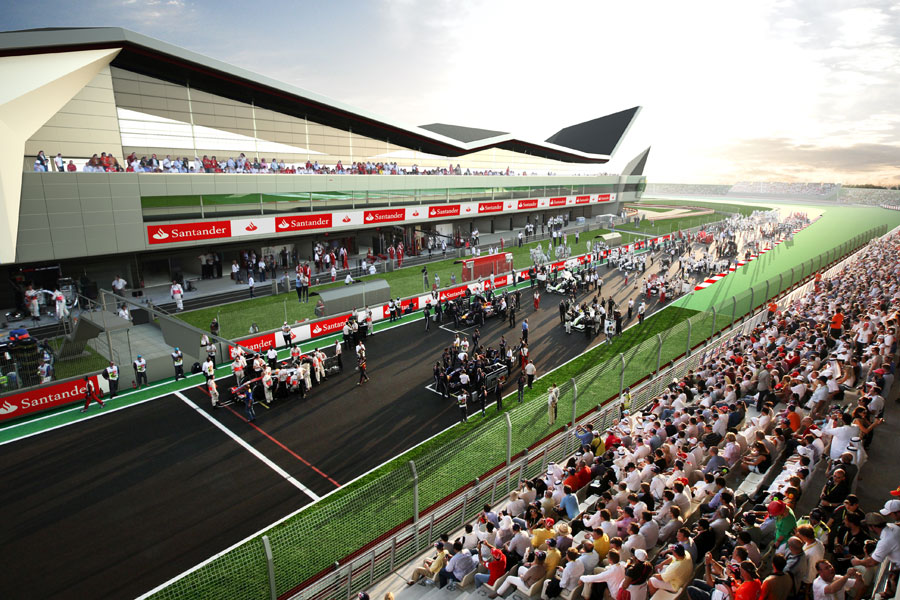 An artist's impression of the new Silverstone pit and paddock complex