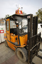 A forklift truck at the circuit