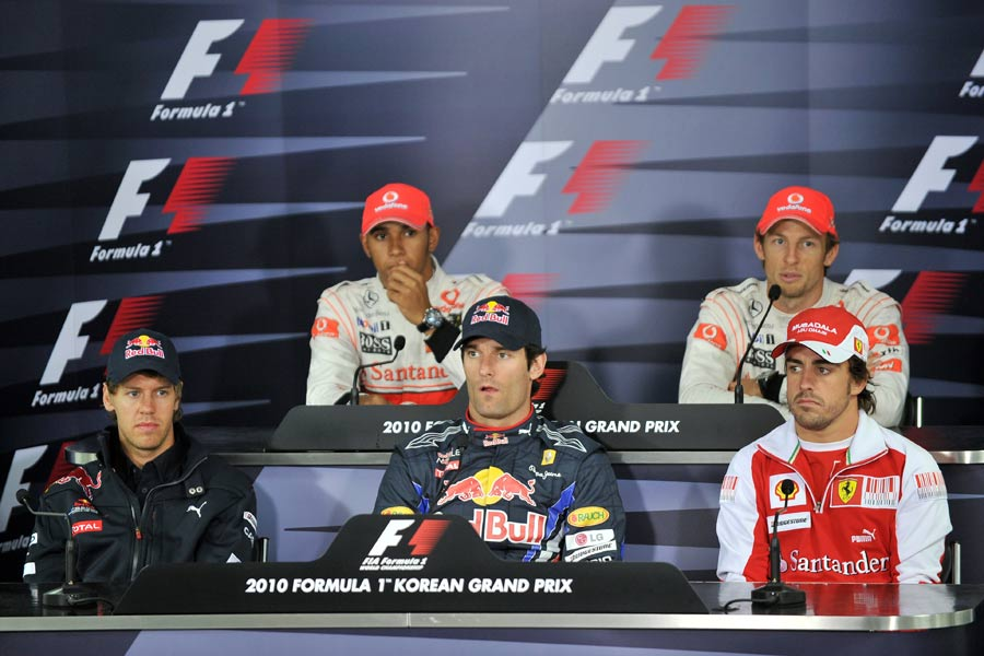 The title contenders at Thursday's press conference