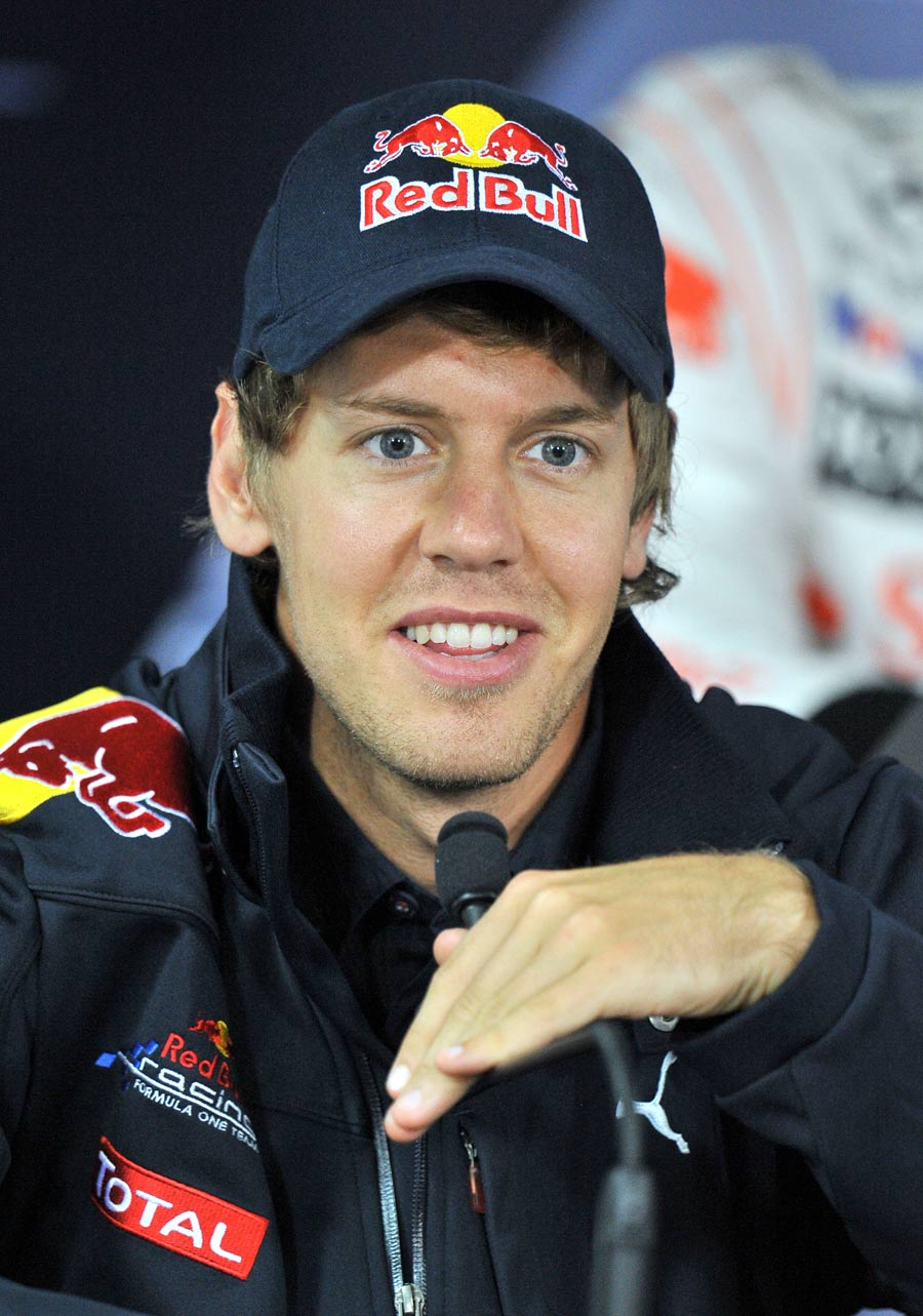 Sebastian Vettel in relaxed mood