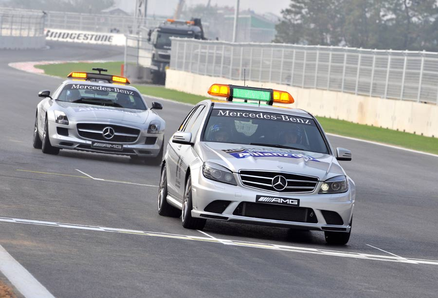Safety cars take to the circuit on Thursday
