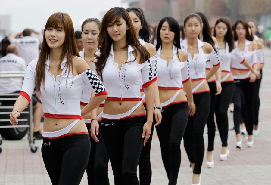Fans at the Korean Grand Prix
