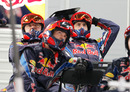 Red Bull's mechanics react to Mark Webber's crash