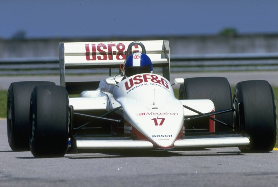 Derek Warwick in action in his Arrows Megatron during the Brazilian Grand Prix