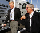 Max Mosley and Bernie Ecclestone in the paddock